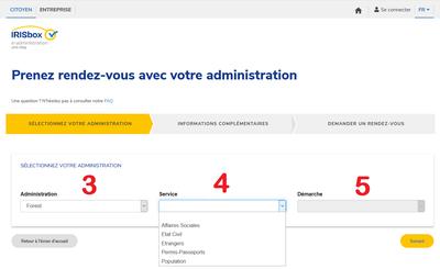Prise de RDV en ligne écran 2 FR