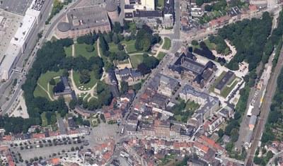Abbaye - vue aérienne