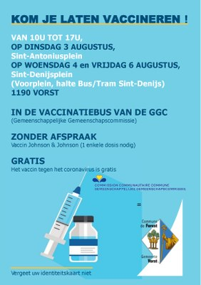 FLYER BUS 100 ROND POINT Vaccination Commune NL 3 4 6 Aug