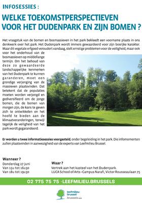 séance info arbres parc Duden NL