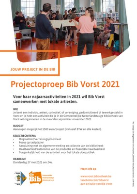 Poster projectoproep 2021