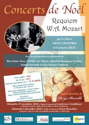 Concert de Noel 2020  requiem de Mozart