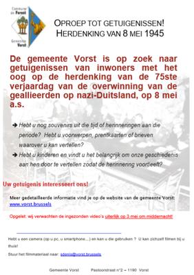 Poster herdenking 8 mei