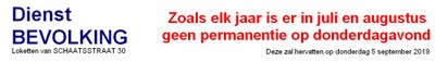 Slide horaire été pop NL